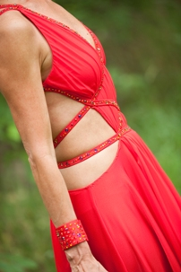 Red Smooth Gown (Front)