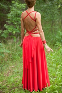 Red Smooth Gown (Back)