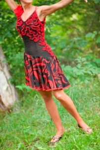Red & Black Latin Gown (Front)