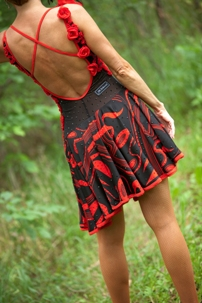 Red & Black Latin Gown (Back)